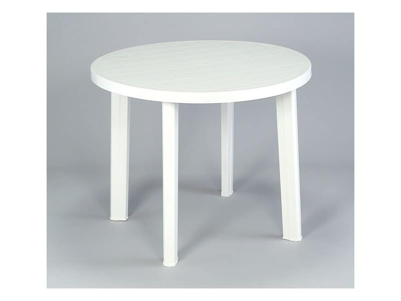 Round Table Made Of Plastic For Outdoor Use IDFdesign