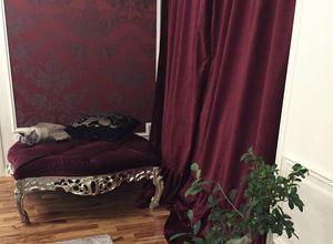 Finlandia Grande fabric, Classic style ottoman with tufted seat