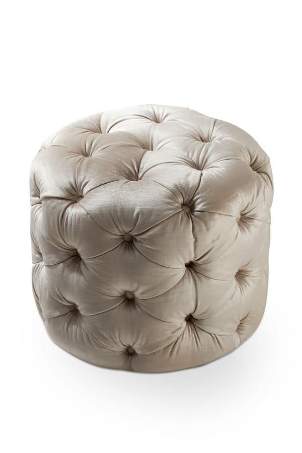 modern padded tufted pouf for stand rooms idfdesign. Black Bedroom Furniture Sets. Home Design Ideas