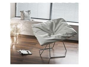 Picture of mask I, linear metal chairs