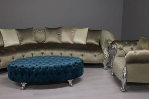 Picture of Oceano Footstool, upholstered-seat
