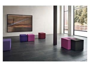 Picture of QUBO POUF, upholstered seats