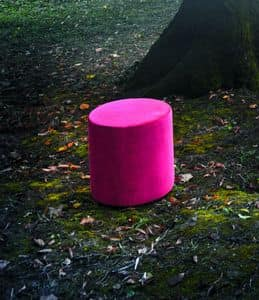 ROLLY pouf, Pouf cylindrical design covered with imitation leather