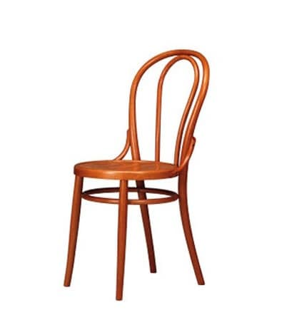 102, Chair with old style decor, in beech, residential use