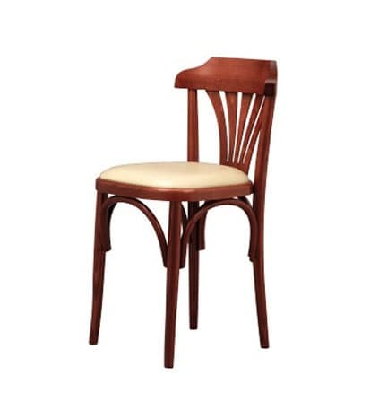 131, Retro chair in curved beech, for wine bars and pizzerias