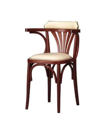 133, Upholstered chair in curved wood for bar and bistro
