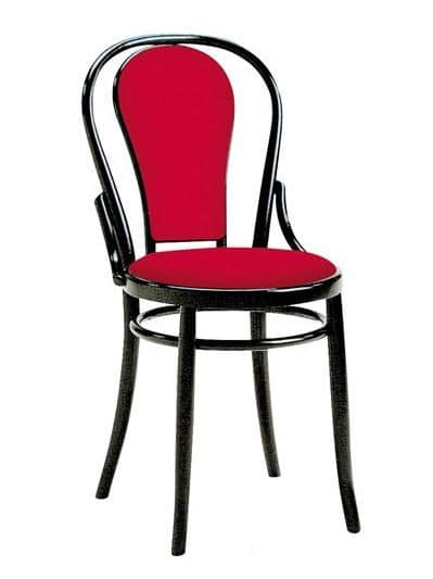 2006, Vienna style chair in wood, padded seat and back