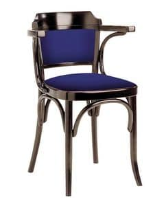 600/imb, Vienna style chair, wooden structure, padded, several colours available