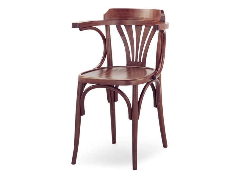 600, Wooden chair with armrests, Viennese style