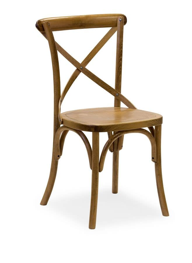 Ciao SL, Chair entirely in solid curved wood