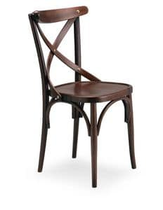 Croce 1, Chair in beech wood for residential use