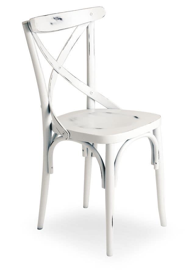 Croce 2, Chair in beech wood, various coatings