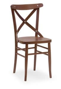 Croce 3, Chair in beech, for restaurants