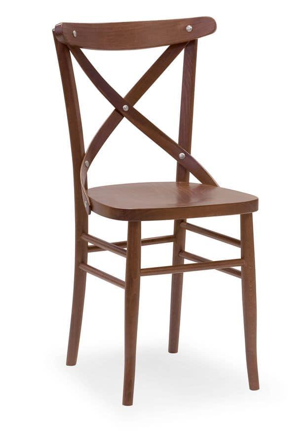 Croce 3, Chair in beech, for restaurants