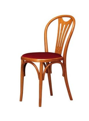 V04, Chair in beech wood curved, seat in various materials