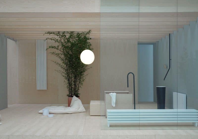 radiateur et s che serviette sobre et l gant cr ateur de salle de bain. Black Bedroom Furniture Sets. Home Design Ideas