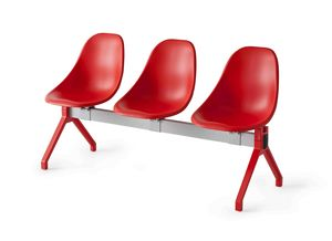 Harmony TVN, Modular bench on beam, for waiting room