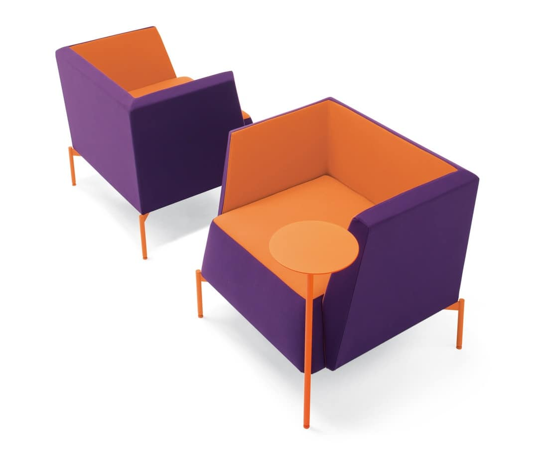 Kendo armchair, Stuffed armchair, for waiting and relax areas