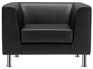 Max 1P, Waiting armchair, upholstered in leather or fabric