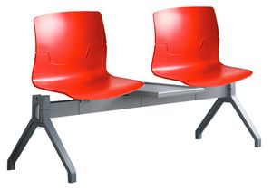 System Of Chairs And Tables With Sound Absorbing Panels