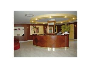 Hotel Imperiale, Reception desk for the hotel, made of fine wood