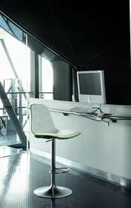 EPOCA EP13, Stool with gas lift system and upholstered seat