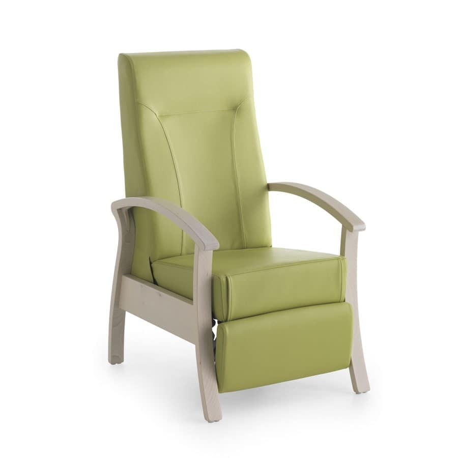 Silver Age 08 EV, Stable and relaxing chair, reclining, for elderly people