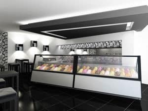 Picture of Ice cream shop in Germany, refrigerated counter