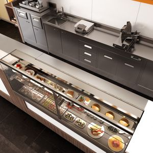 Revolution - counters and back counters for bakeries and cafes, Counters with refrigerated or heated display unit