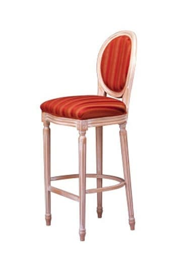 1054 SG, Classic beech barstool, with oval back