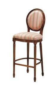 S07SG, Barstool with upholstered seat and back, for elegant Bars