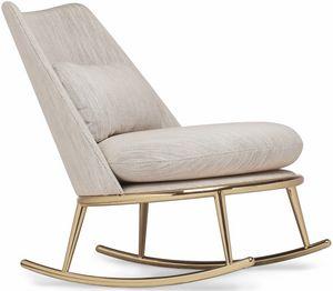 Aurora rocking chair, Padded rocking armchair