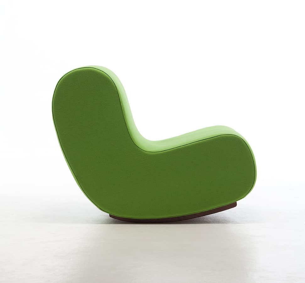 simple rocking chair rocking armchair seat upholstered in fireproof foam modular