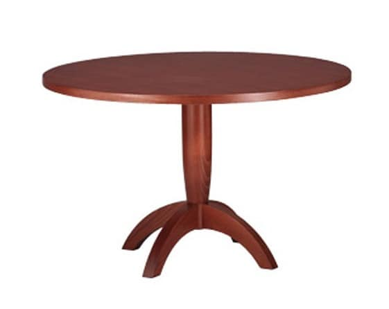 607, Table with round top, in beech wood, for Kitchen