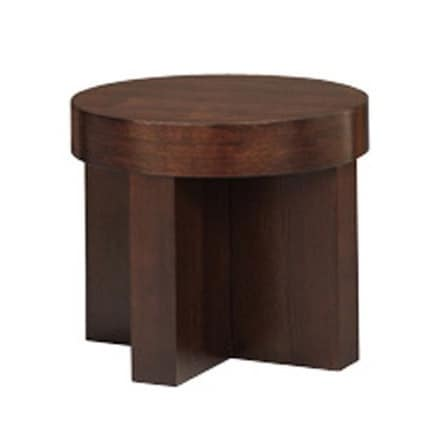 837, Linear round table, veneer, for living room