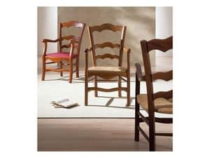 Picture of NONNA 44 AP, painted or natural wooden chairs with armrests