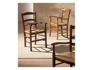 Picture of VENEZIA 42 AP, robust wooden chairs with arms