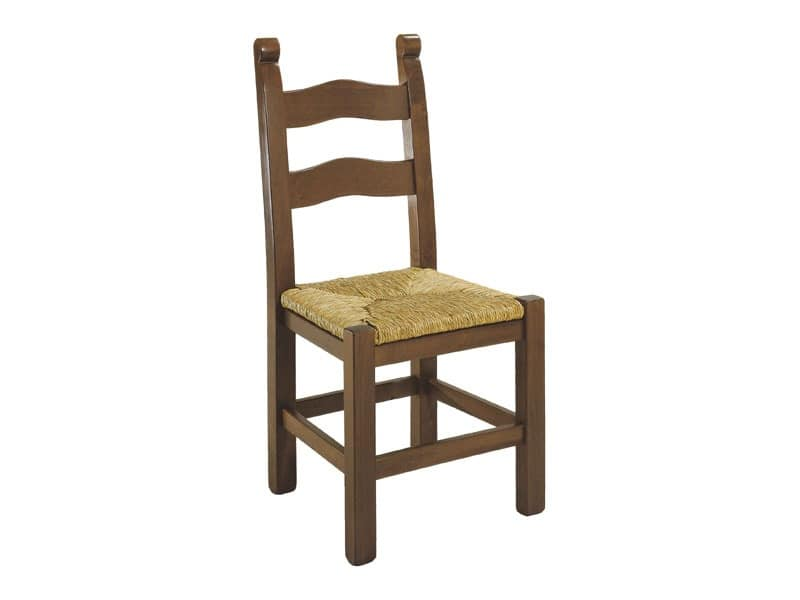 108, Painted wooden rustic chair, with various finishes