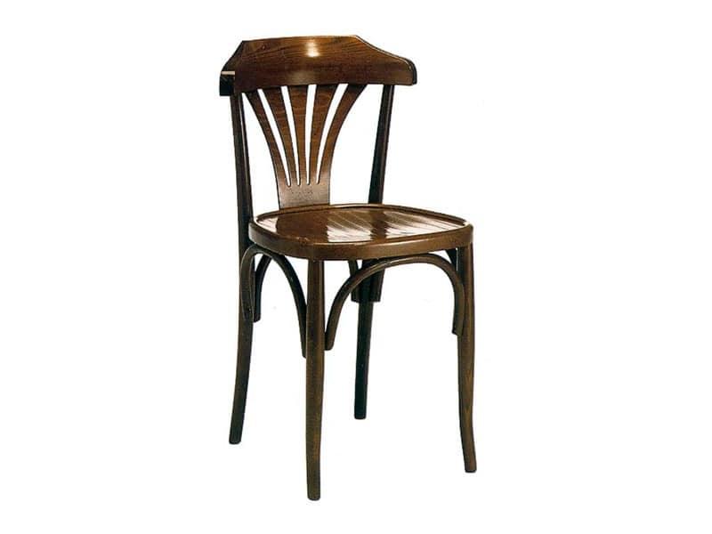 121, Chair in fir or pine wood Mountain hut