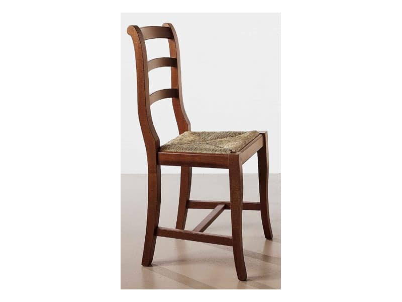 152, Rough wooden chair, straw seat, for contract use