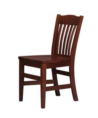 218, Painted rustic chair, backrest in vertical slats