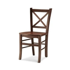Atena, Sturdy chair made entirely of wood, for tavern