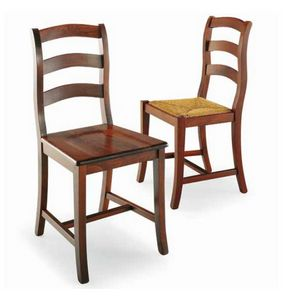 Castellana, Rustic chair in solid wood