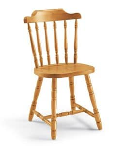 Chucky, Chair entirely in solid pine, for chalets and taverns