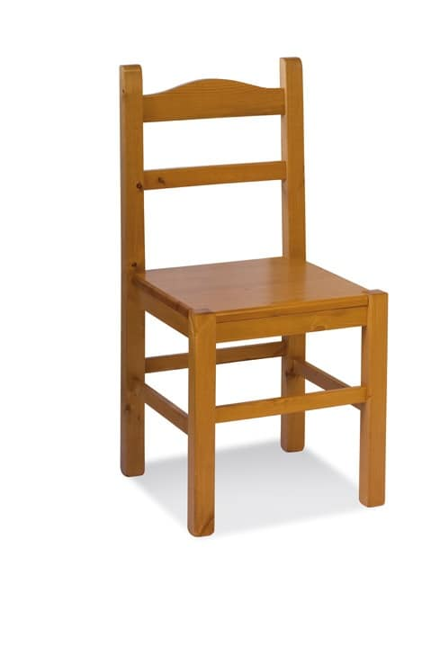 S/109 L Anita Wood, Chair entirely in pine, for wine-bars and rustic houses