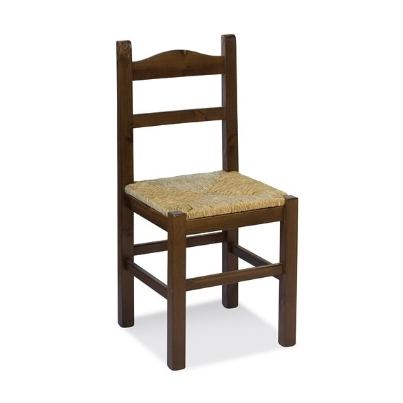 S/109 P Anita Straw, Chair with straw seat, for rustic residences