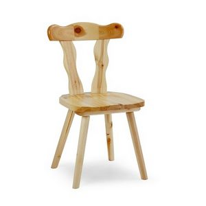 S/135 Patrizia Chair, Rustic chair made in pine, for breweries and wineries