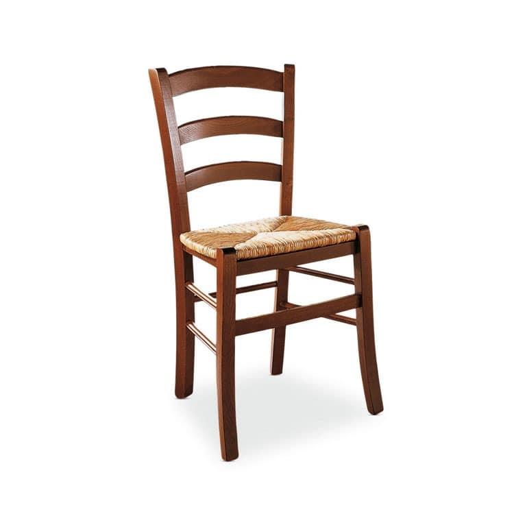 Attractive Veneta Chair, Rustic Wooden Chair, Sitting In Rice Straw, For Cellar