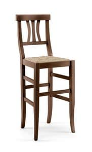 Picture of Arte Povera stool, rustic wooden barstool