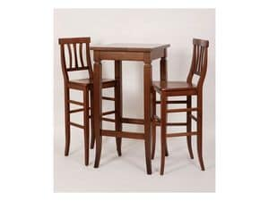 Picture of Bistrot, country wooden barstools